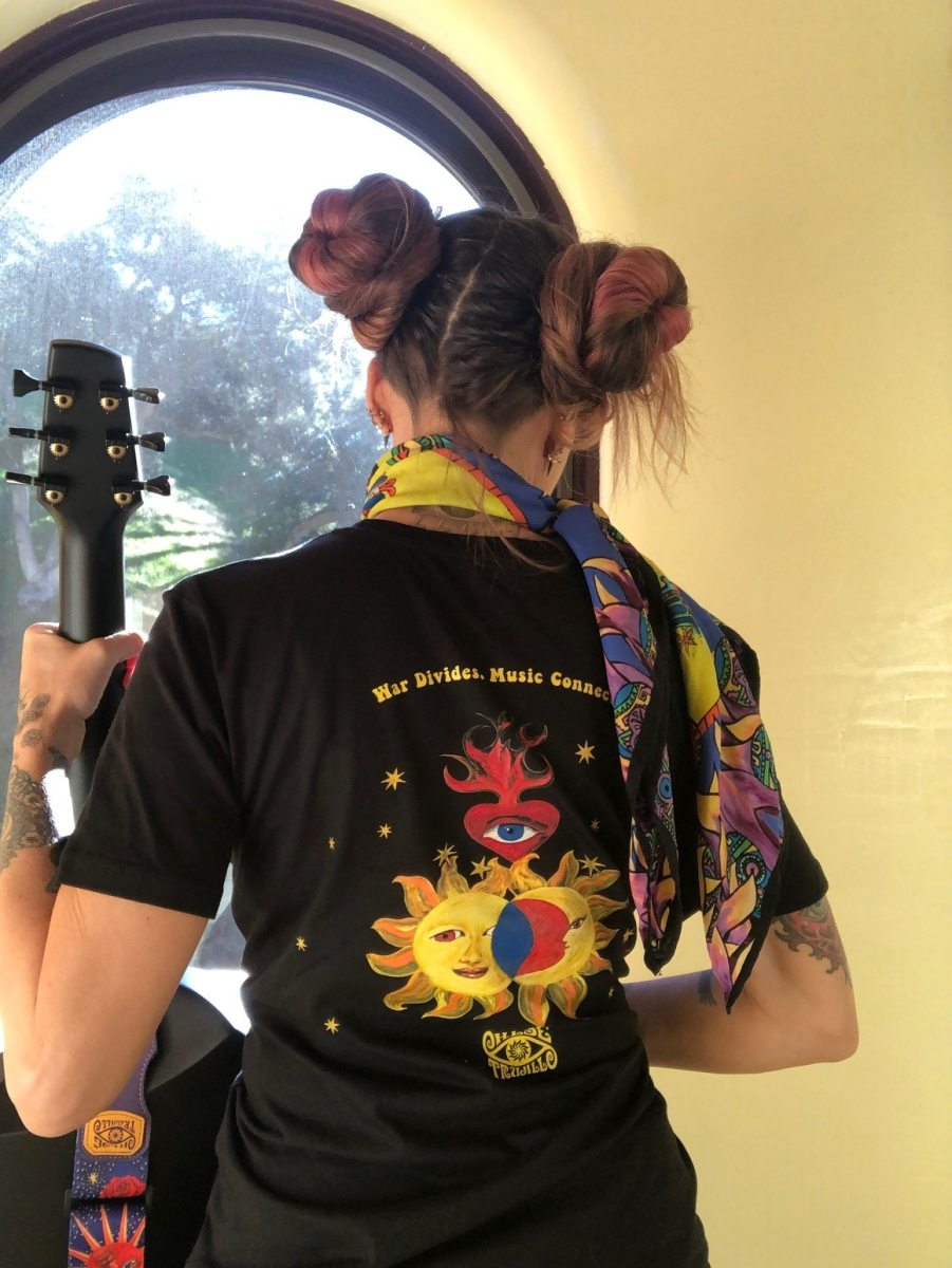 L.A.'s Chloe Trujillo Partners with Musicians Without Borders to Launch Shirt in Support of Music and Peacebuilding